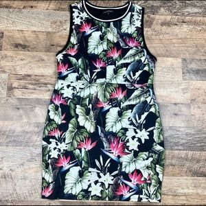 TopShop Modern Style Floral Jersey Dress Size 10